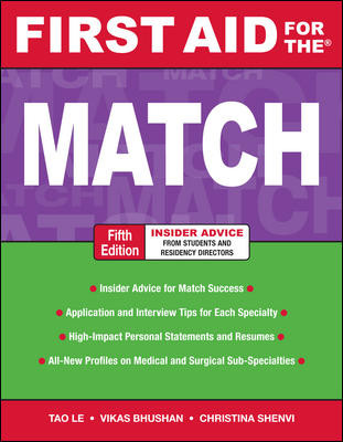 First Aid for Match, 5th ed.