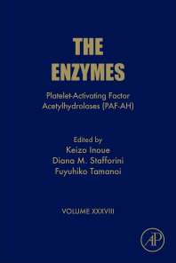 Enzymes, Vol.38- Platelet-Activating Factor Acetylhydrolases(PAF-Ah)