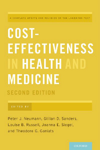 Cost-Effectiveness in Health & Medicine, 2nd ed.