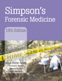 Simpson's Forensic Medicine, 13th ed.,Hardcover