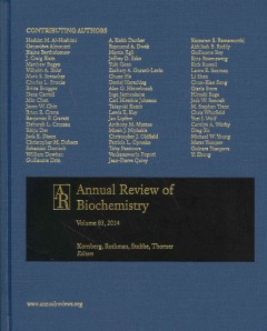 Annual Review of Biochemistry, Vol.83 (2014)