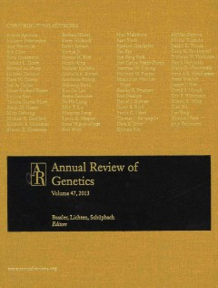 Annual Review of Genetics, Vol.47 (2013)