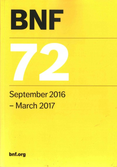 British National Formulary(BNF), No.72 (2017)