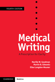 Medical Writing, 4th ed.- A Prescription for Clarity