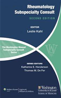 Washington Manual Rheumatology Subspecialty Consult,2nd ed.