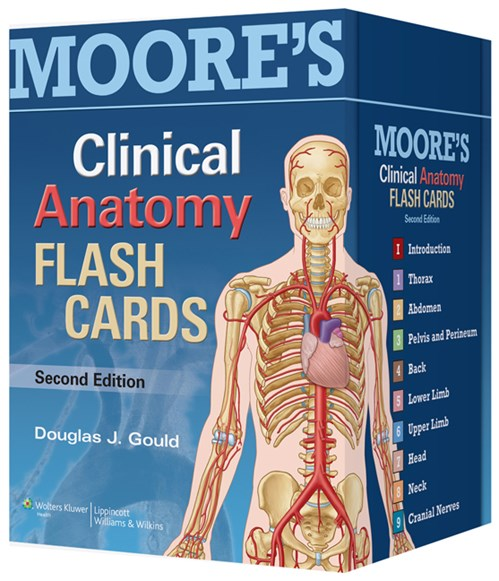 Moore's Clinical Anatomy Flash Cards, 2nd ed.