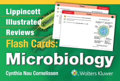 Lippincott's Illustrated Reviews Flash Card- Microbiology