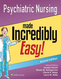 Psychiatric Nursing Made Incredibly Easy!, 2nd ed.