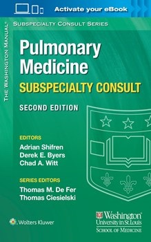 Washington Manual of Pulmonary Medicine SubspecialtyConsult, 2nd ed.(Vital Source E-Book)