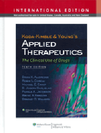 Koda-Kimble & Young's Applied Therapeutics, 10th ed.(Int'l ed.)- Clinical Use of Drugs(Vital Source E-Book)