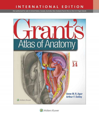 Grant's Atlas of Anatomy, 14th ed.(Int'l ed.),Hardcover