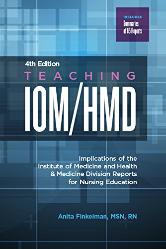 Teaching IOM/Hmd, 4th ed.- Implications of Institute of Medicine & Health &Medicine Division Reports for Nursing Education