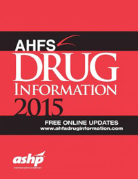 AHFS Drug Information 2015(American Hospital Formulary Service)