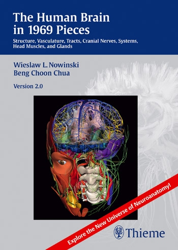 CD-ROM Human Brain in 1969 Pieces, Ver,2.0- Structure,Vasculature,Tracts,Cranial Nerves,Systems,Head Muscles, & Glands