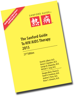Sanford Guide to HIV/AIDS Therapy 2015-2016, 23rd ed.,Pocket ed.