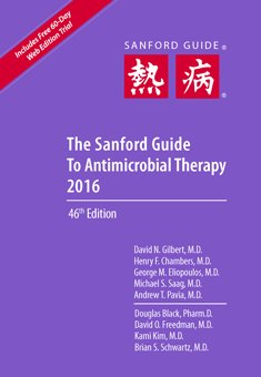 Sanford Guide to Antimicrobial Therapy 2016, Spiral ed.(46th ed.)