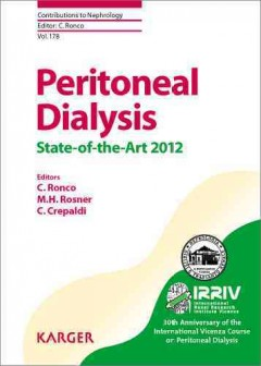 Contributions to Nephrology, Vol.178- Peritoneal Dialysis (State-Of-The-Art 2012)
