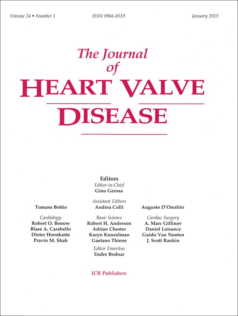 Journal of Heart Valve Disease
