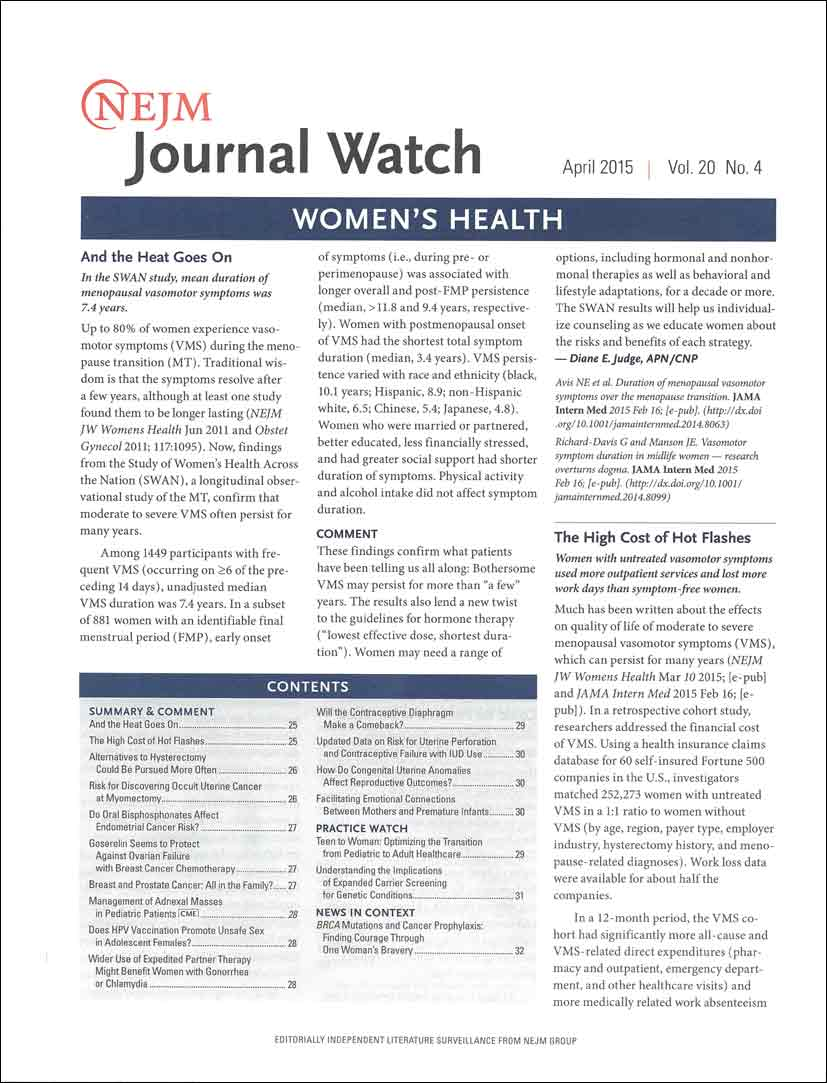 NEJM Journal Watch: Women's Health