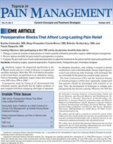 Topics in Pain Management