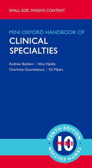 Oxford Handbook of Clinical Specialties, 10th ed.(Mini-Edition)